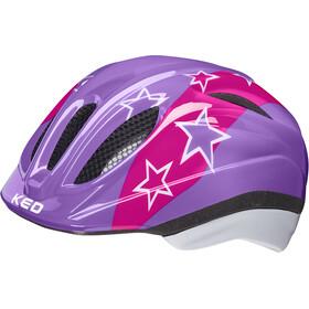 KED Meggy II Helmet Kids lilac stars
